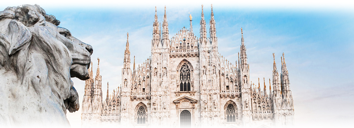 Duomo of Milan, Italy. Cathedral. Symbol of Milano.Beautiful day